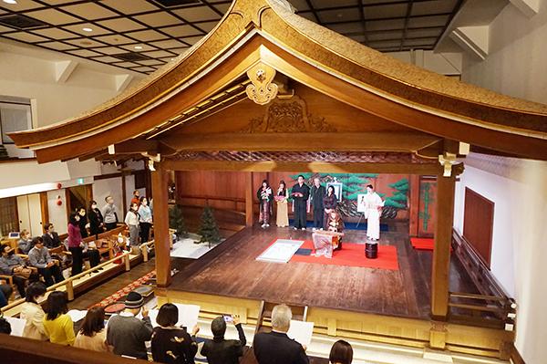 山本能楽堂でマンダラ