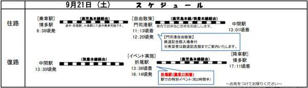 折尾駅探訪ツアースケジュール