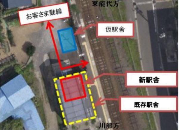 鶴泊駅構内図