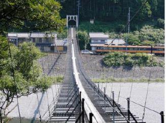 塩郷のつり橋